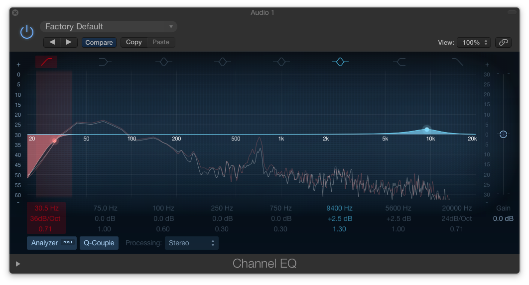 EQ settings